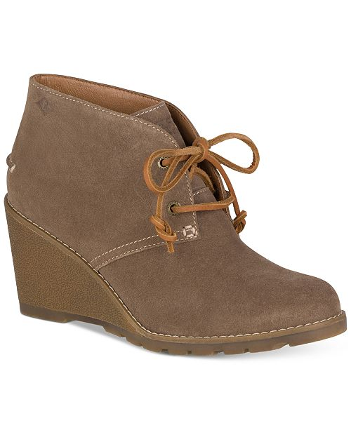 Sperry Women's Celeste Prow Wedge Ankle Booties Women's Shoes N7don