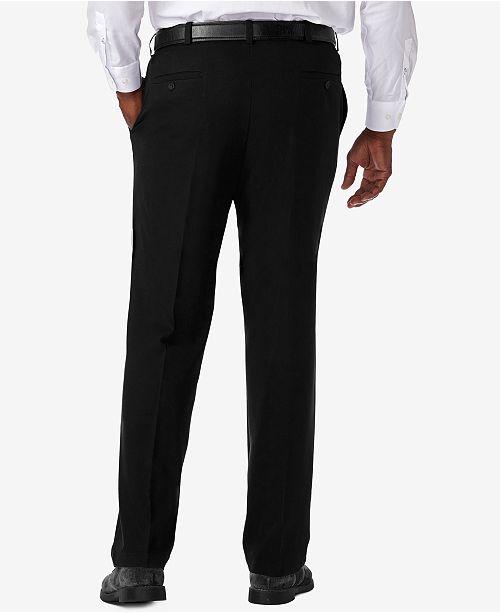 4de68373 ... Haggar Men's Big & Tall Cool 18® PRO Classic-Fit Expandable Waist  Flat Front ...