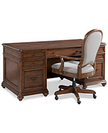 Clinton Hill Cherry Home Office Furniture, 2-Pc. Set (Executive Desk & Desk Chair), Created for Macy's