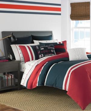 Nautica Heritage Classic 2Pc Colorblocked Twin Comforter Set Bedding