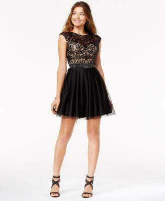 say yes to the dress openback sequined dress a macyu0027s exclusive
