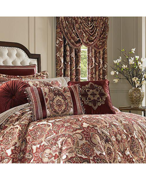 J Queen New York Rosewood Burgundy Comforter Sets