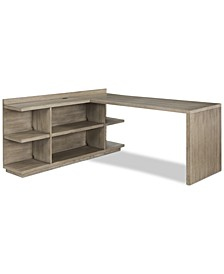 Ridgeway Home Office Return Desk, 2-Pc. (Return Desk & Peninsula USB Outlet Bookcase), Created for Macy's