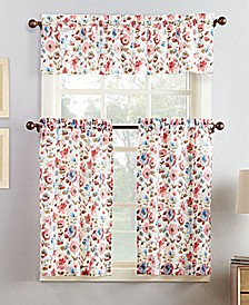 Deana 3-Piece Floral-Print Kitchen Curtain Set