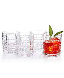 Godinger Radius Set of 4 Double Old Fashioned Glasses