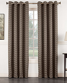 "Sun Zero Ramsey 50"" x 95"" Jacquard Blackout Grommet Curtain Panel"