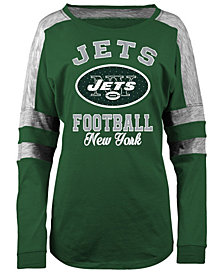 5th & Ocean Women's New York Jets Space Dye Long Sleeve T-Shirt
