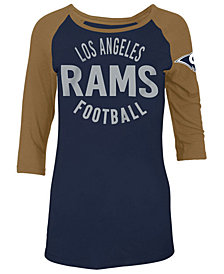 5th & Ocean Women's Los Angeles Rams Rayon Raglan T-Shirt