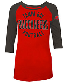 5th & Ocean Women's Tampa Bay Buccaneers Rayon Raglan T-Shirt