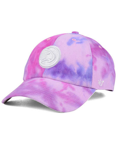 '47 Brand Atlanta Hawks Pink Tie-Dye CLEAN UP Cap