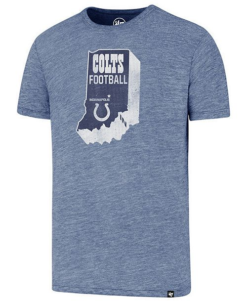 '47 Brand Men's Indianapolis Colts State Outline Triblend T-Shirt