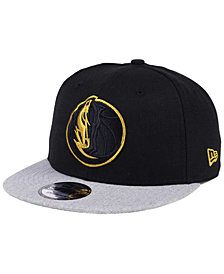 New Era Dallas Mavericks Gold Tip Off 9FIFTY Snapback Cap