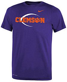 Nike Clemson Tigers Legend Icon Football T-Shirt, Big Boys (8-20)