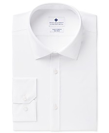 Ryan Seacrest Distinction™ Men's Ultimate Slim-Fit Non-Iron Performance White Dress Shirt, Created for Macy's