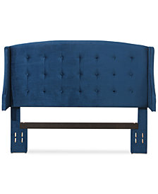 CLOSEOUT! Beltran Tufted Velvet Headboard - Full/Queen, Quick Ship