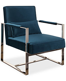 Slater Stainless Steel Accent Chair, Quick Ship