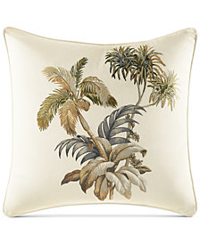 "Tommy Bahama Home Nador Embroidered 16"" Square Decorative Pillow"