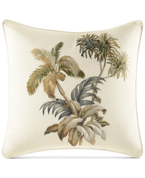 """Image of Tommy Bahama Home Nador Embroidered 16"""" Square Decorative Pillow"""
