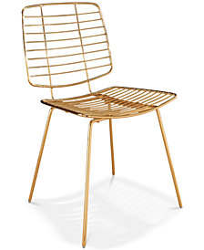 Elon Iron Dining Chair, Quick Ship