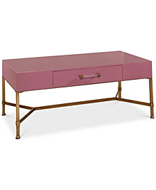 CLOSEOUT! Ava Gold Iron Coffee Table, Quick Ship