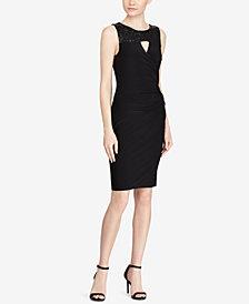 Lauren Ralph Lauren Sequin-Trim Keyhole Dress