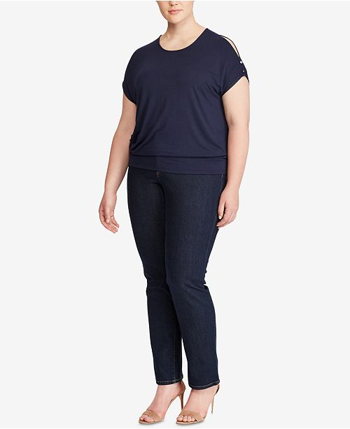 d70cb9ae62ec9f Lauren Ralph Lauren Plus Size Cold-Shoulder Top   Reviews - Tops ...