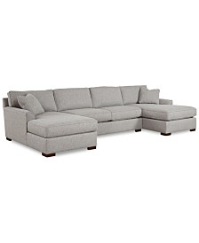 Carena 3-Pc. Fabric Sectional Sofa with Double Chaise, Created for Macy's