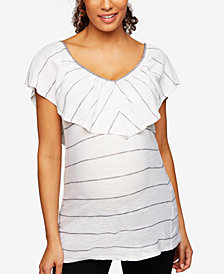 Splendid Maternity Cotton Tiered Top