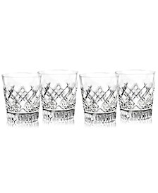 Artisan Signed Eastbridge Double Old Fashion Glass Set of 4, Created For Macy's