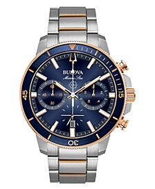 Men's Chronograph Marine Star Two-Tone Stainless Steel Bracelet Watch 45mm