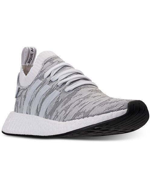 adidas Men's NMD R2 Primeknit Casual Sneakers from Finish