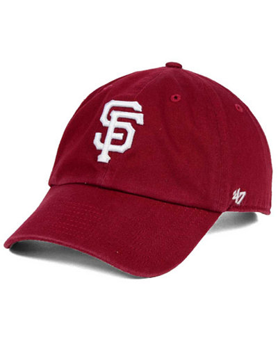 '47 Brand San Francisco Giants Cardinal and White CLEAN UP Cap