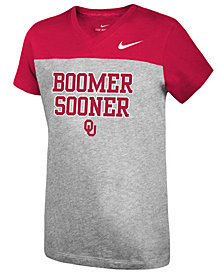 Nike Girls' Oklahoma Sooners Color Block Phrase T-Shirt