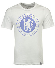 Nike Men's Chelsea Club Team Crest Logo T-Shirt
