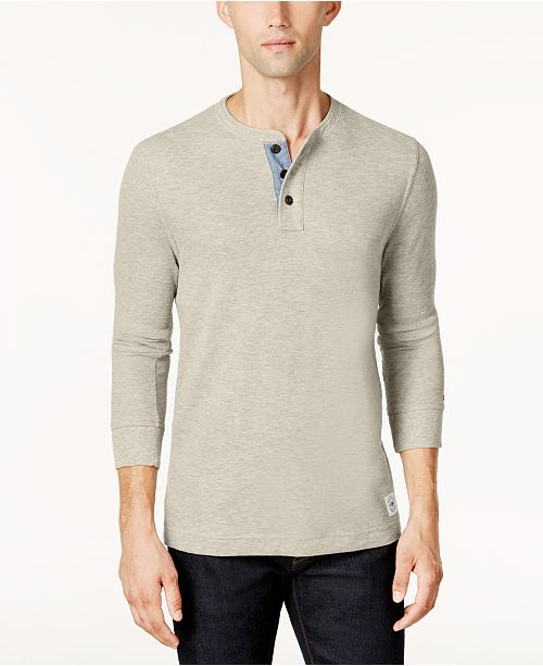 594a7f0bdc1 Tommy Hilfiger Men's Henley Shirt, Created for Macy's & Reviews - T ...