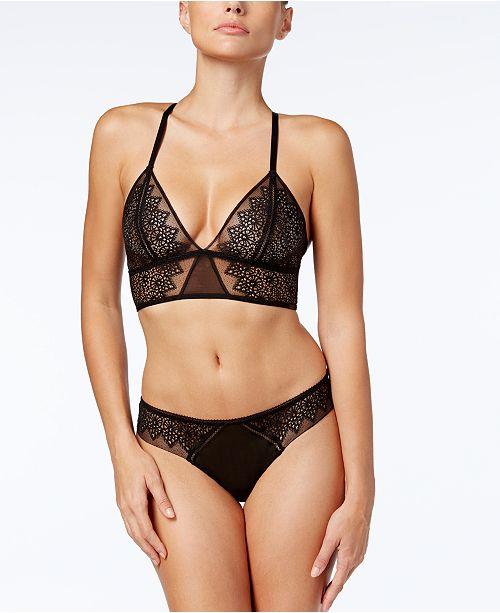 35e0a0d2d5 Calvin Klein CK Black Excite Sheer-Embroidered Bra   Thong - Bras ...