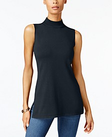 Petite Sleeveless Mock Neck Sweater, Created for Macy's