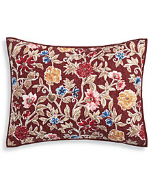 Martha Stewart Collection Climbing Blossoms  100% Cotton Quilted Standard Sham, Created for Macy's