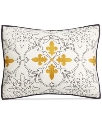 Cotton Fleur-De-Lis Quilted Standard Sham, Created for Macy's