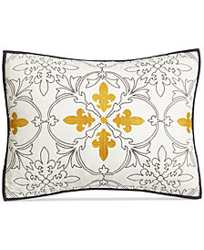 Martha Stewart Collection Cotton Fleur-De-Lis Quilted Standard Sham, Created for Macy's