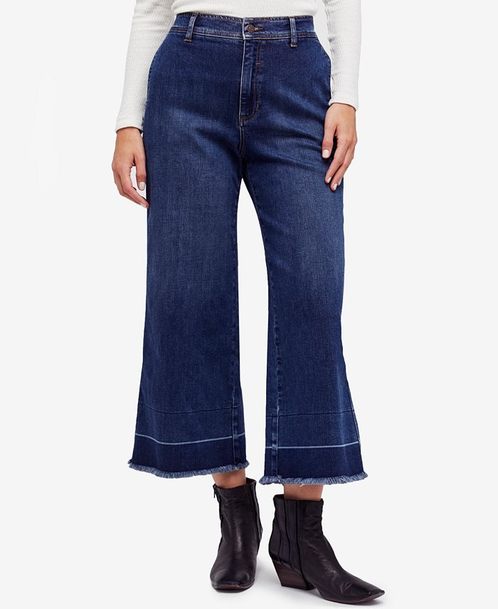 Free People - Cropped Wide-Leg Jeans