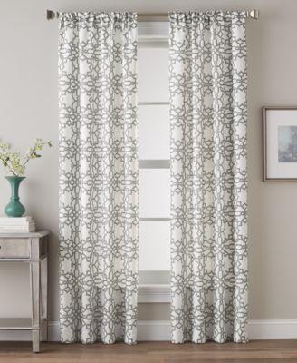 "Lotus Harmony 40"" x 63"" Geometric Print Curtain Panel"