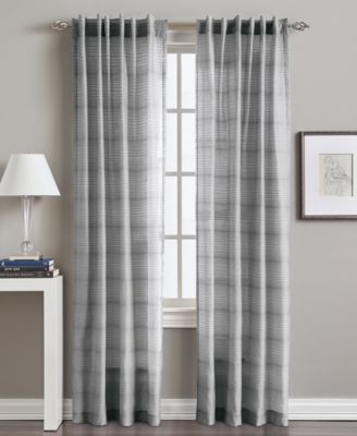 "Preston Horizontal Stripe 50"" x 95"" Tab Top Window Panel"