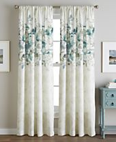 CHF Reversible Watercolor Floral-Print Rod Pocket Window Panel Collection
