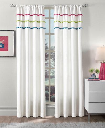 Curtainworks Sweet Pom Pom Rod Pocket Window Panel Collection