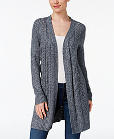 Karen Scott Cable,Knit Duster Cardigan, Created for Macy\u0027s