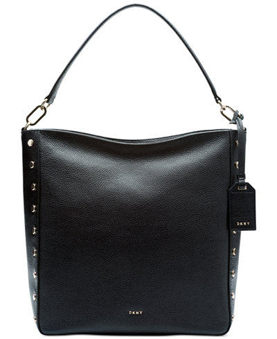 DKNY Studded Top-Zip Medium Hobo, Created for Macy's