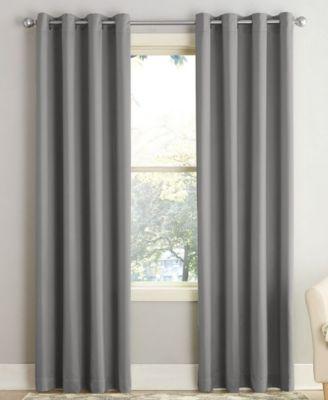 "Seymour Energy Efficient Grommet Curtain Panel Gray 54""x63""- Sun Zero"