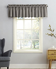 sun zero grant room darkening pole top 54 x 18 valance - Kitchen Curtain