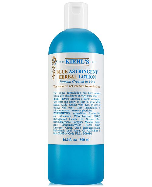 Kiehl's Since 1851 Blue Astringent Herbal Lotion, 16.9-oz.